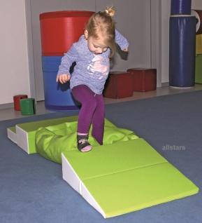 Allstars Bausteine Bewegungsbaustelle 4 teilig Set Softbausteine Kindergarten