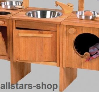 Schöllner Spüle Spültisch für Kinderküche Spielküche Star aus Holz mit Unterschrank + Verbindungsbretter für Kindergarten - Vorschau 3