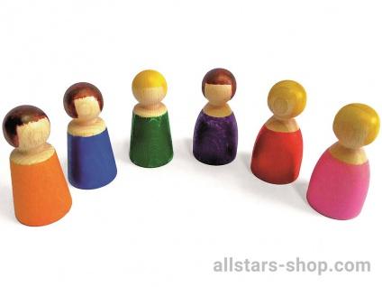 """Allstars Holzfiguren Set """"Kleine Menschen"""", 6 Teile"""