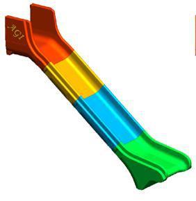 Beckmann Rutsche Modulrutsche PE Anbaurutsche L = 4, 80 m PH = 2, 40m - Vorschau 4