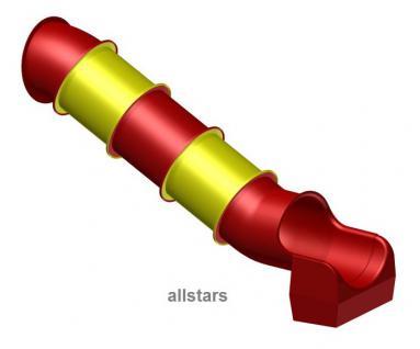Beckmann Modulrutsche Röhrenrutsche L= 3, 1 m PH= 1, 25 m Modulrutsche