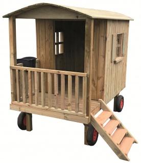 Spielhaus Zirkuswagen Spielwagen Holz für Kindergarten allstars