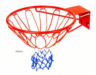 Beckmann Basketball Basketballkorb mit Netz Standard 510 Nylonnetz Baskeballnetz