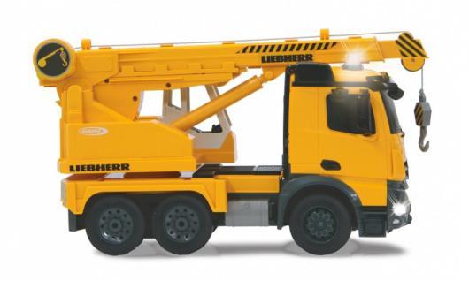 Jamara RC Auto Schwerlastkran Mercedes Liebherr 1:20 Baufahrzeug 2, 4GHz gelb Funk - Vorschau 2