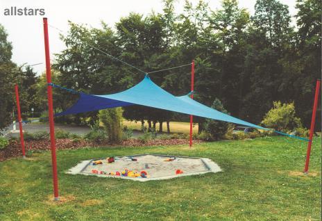 Huck Sonnenpavillon Abdeck-Kombination + Bodenhülsen Sonnensegel Sonnenschutz
