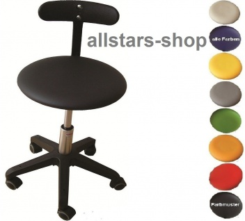 """Allstars Bürostuhl """"Octopus Beta"""" 36-43 cm Drehstuhl mit Rollen und Beckenstütze schwarz"""