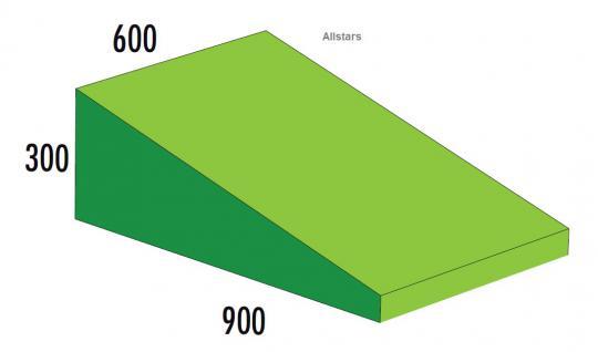 Bänfer Softbaustein Keil grün 900 x 300/60 Maxi Schaumstoff-Baustein Großbaustein