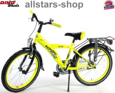 """Allstars Dino Wheels Bikes Jungenfahrrad 20 """" mit Rücktrittbremse + Handbremse Fahrrad neon gelb"""