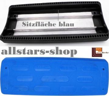 Beckmann Schaukelsitz Typ 3 Gummi abgerundet Schaukel mit Alu-Verstärkung ohne Kette TÜV für öffentlichen Bereich blau