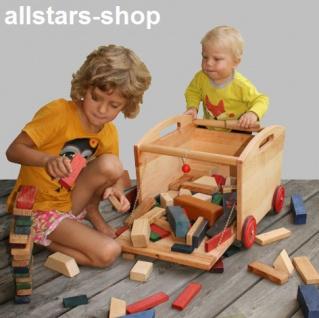 Schöllner Spielzeugwagen Lore Spielzeugkiste auf Räder Spielzeugbox mit Bausteine für Kindergarten