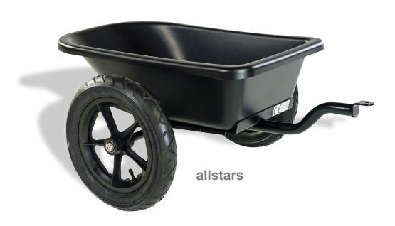 DinoCars Minidump Anhänger Trailer Basisanhänger Dumpy schwarz Minianhänger