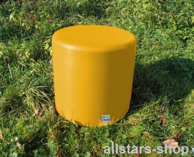 Beckmann Sitzelement Hocker rund Sitzgelegenheit Design-Zylinder Ø = 45 cm gelb H = 45 cm mit Bodenanker