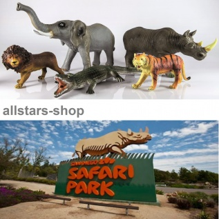 Allstars Spielfiguren Wildtiere-Set Elefant, Tiger, Löwe und Co ideal
