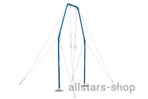 Turnen Ringe exklusiv Ringegerüst Profi Ringeanlage Stahl mit Feder- Dämpfungselement Bänfer Stahlgerüst