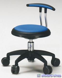 Allstars Stuhl Kinderstuhl Rollhocker Drehstuhl mit Lehne blau Rollstuhl Hocker