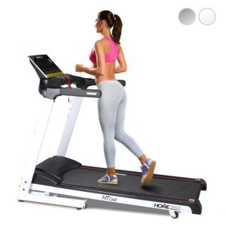 Fitness Laufband elektrisch Home-Trainer Fittnessgerät Home Track HT2500 weiss