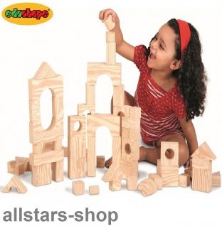 Allstars Bausteine 80 Teile Holzoptik Naturfarbe Wood-Like Soft-Blocks