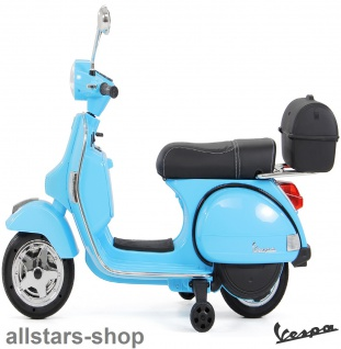 Actionbikes Kinder-Motorroller Vespa PX150 lizenziert Elektro-Roller E-Scooter blau
