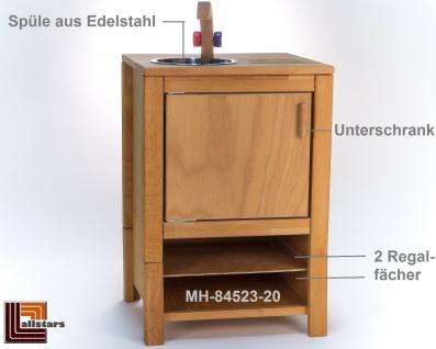 Allstars Kinderspielküche 1 Spüle mit Wasserhahn H = 65, 5 cm Spielküche aus Buchenholz