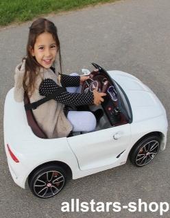 Jamara Kinderauto Elektroauto Ride On Car Bentley EXP12 weiß Cabriolet Kids - Vorschau 5