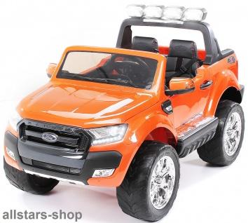 Actionbikes Kinderauto Ford Ranger Kinder-E-Auto 2-Sitzer orange lackiert Miweba
