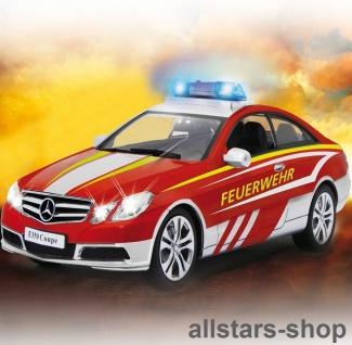 Jamara Feuerwehr Auto PKW Mercedes-Benz E350 Coupe rot mit Sirene