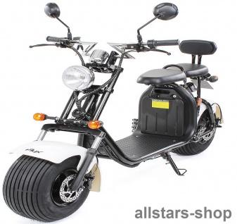 Actionbikes Elektro-Roller Easy Rider Harley Two Sitze Elektro-Scooter Chopper STVZO schwarz-weiß
