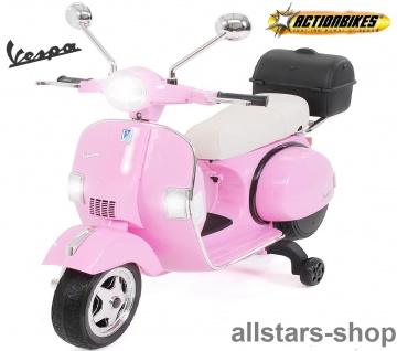 Actionbikes Kinder-Motorroller Vespa PX150 lizenziert Elektro-Roller E-Scooter pink-farben