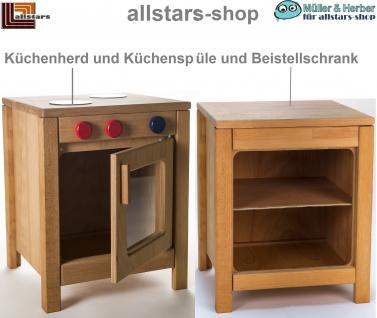 Allstars Kinderküche Herd mit Backofen und Regal-Unterschrank H = 45, 5 cm