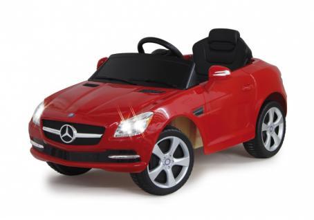 Jamara Ride on Car Mercedes SLK Class 10 rot Kinderauto mit E-Motor zum Selbstfahren Elektroauto mit RC-Fernbedienung