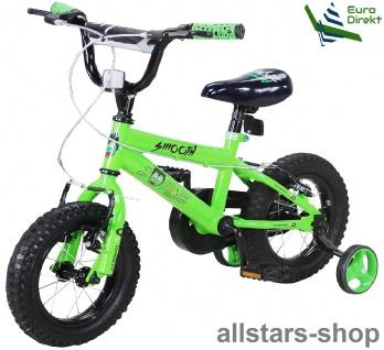 Actionbikes Kinderfahrrad Kinder-Fahrrad - Zombie - 12 Zoll grün-schwarz Bike Mädchen Jungen mit Stützräder