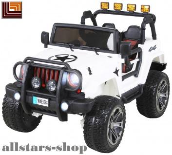 Actionbikes Kinderauto Selbstfahrer Elektro-Auto Wrangler Offroad Allrad SUV Zweisitzer weiß Miweba