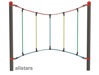 HUCK Vario-Element 9 Bogenseil für Robinie-Pfosten öffentlicher Spielplatz Hangelseil