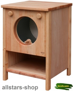 Schöllner Kinderküche Spiel-Waschmaschine Vario Single für Spielküche Erlenholz Pantry für Kindergarten