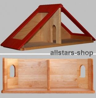 Schöllner Puppenhaus Spielhaus Kinderspielhaus Puppenstube 1 Etage mit Dach für Kindergarten - Vorschau 2