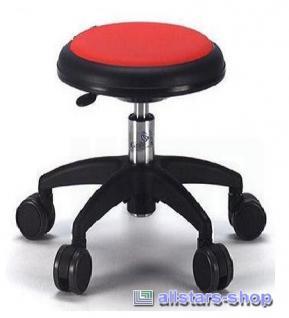 Allstars Stuhl Kinderstuhl Rollhocker Drehstuhl rot Rollstuhl Kinderhocker KiGa