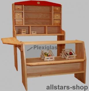 Schöllner Kaufladen Optimus 2 Kinderkaufladen 2-teilig mit Tresen und Schauglas für Kindergarten