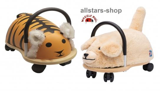 Wheely Bug Rutscher Hund und Tiger Kleinkindrutscher klein 360 Grad rundum allstars
