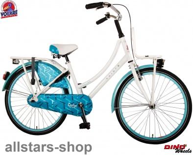 """Allstars Dino Bikes Wheels Kinderfahrrad Mädchenfahrrad 24 """" mit Rücktritt + Handbremse weiß blau"""