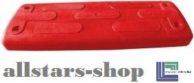 Beckmann Schaukelsitz Typ 1B Gummi Schaukel gebogen mit Alu-Verstärkung ohne Kette TÜV für öffentlichen Bereich rot