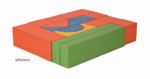 Bänfer Bausteinsatz 16-tlg. Softbausteine MINI Bausteine Großbausteine Schaumstoff - Vorschau 3