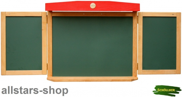 Schöllner Pinnwand magnethaftende Tafel Kindertafel Wandtafel mit 3 Tafeln für Kindergarten