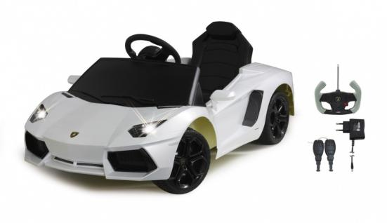 Jamara Ride on Car Lamborghini Aventador weiss Kinderauto mit E-Motor zum Selbstfahren Elektroauto mit RC-Fernbedienung - Vorschau 4