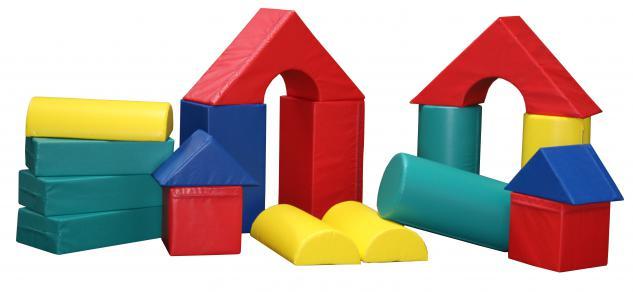 Bänfer Softbaustein Röhre 1-tlg. Gelb 30 x 60 x 60 Maxi Schaumstoff-Baustein - Vorschau 2