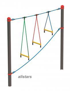 Huck Vario-Systen Element 13 Leitersprossen Parcours f. Stahlpfosten Spielplatz
