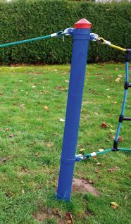 Huck Fun-Parcours Standpfosten Stahl Seilparcours Spielplatzanlage Stahlpfosten