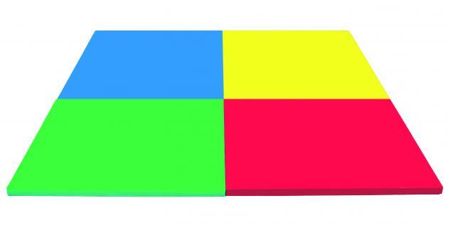 Bänfer Fallschutzmatte Matte 1 x 1 m Farbwahl Klettecken Spielmatte Schaumstoff