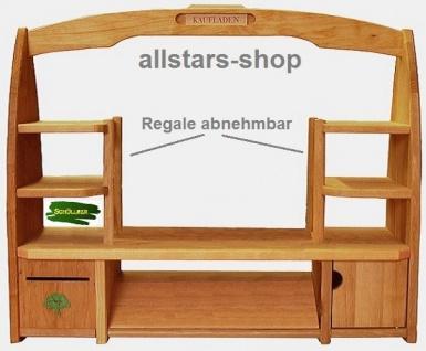 Schöllner Holzspielzeug Tischkaufladen mit 6 Obststeigen Kisten ohne Inhalt - Vorschau 2