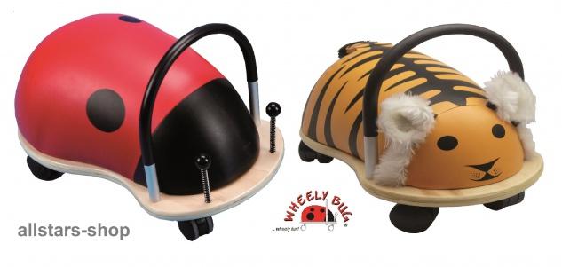 Wheely Bug Rutscher Marienkäfer und Tiger Kleinkindrutscher klein 360 Grad rundum allstars