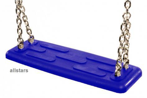 Beckmann Schaukelsitz Typ 1A Gummi blau Schaukel und 2 m Kette Edelstahl - Vorschau 2